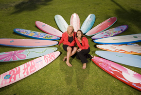 Surf Diva Owners, Izzy Tihanyi & Coco Tihanyi | Photo by Chris Giles | Property of Surf Diva.